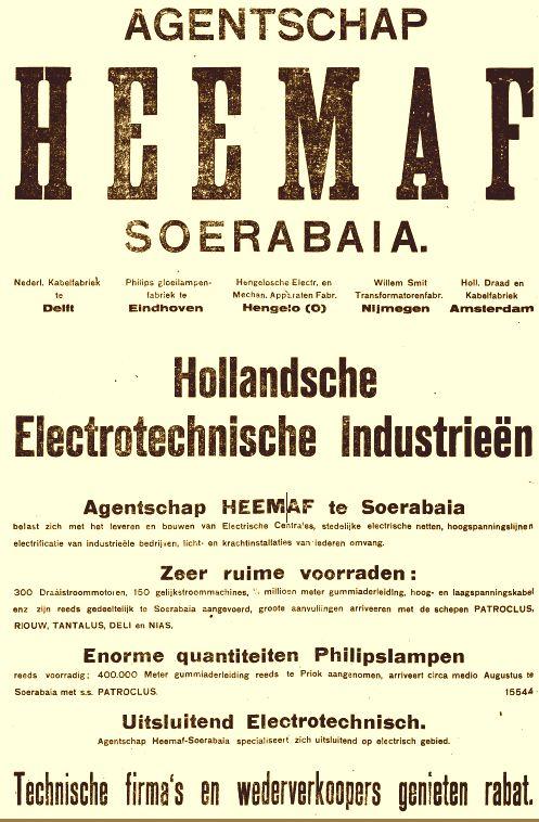 Heemaf - Smit samenwerking voor Nederlands Indië in 1920