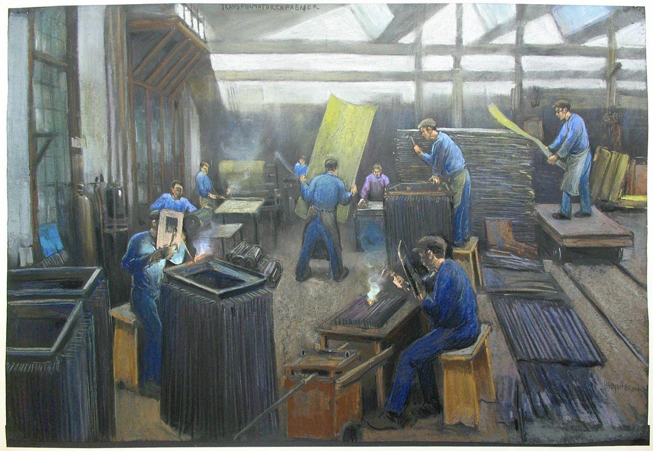 Schilderijen hermann heijenbrock gemaakt bij smit transformatoren en smit slikkerveer 1925 1940 - Bron schilderijen ...