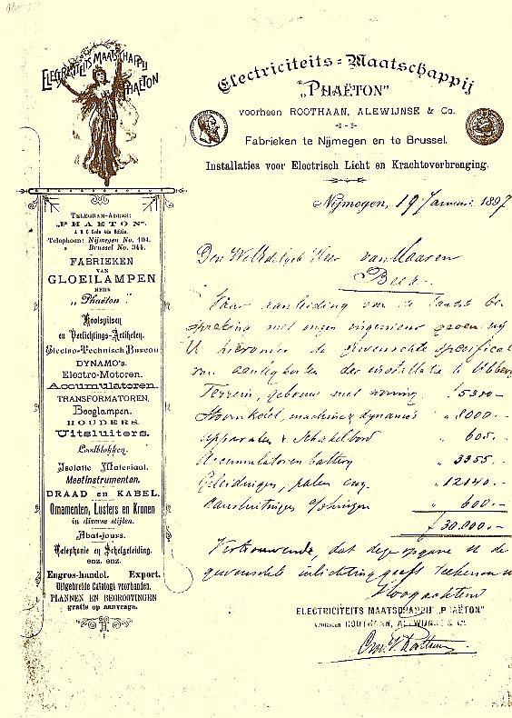 Oprichting Electriciteitscentrale Beek-Ubbergen 1897