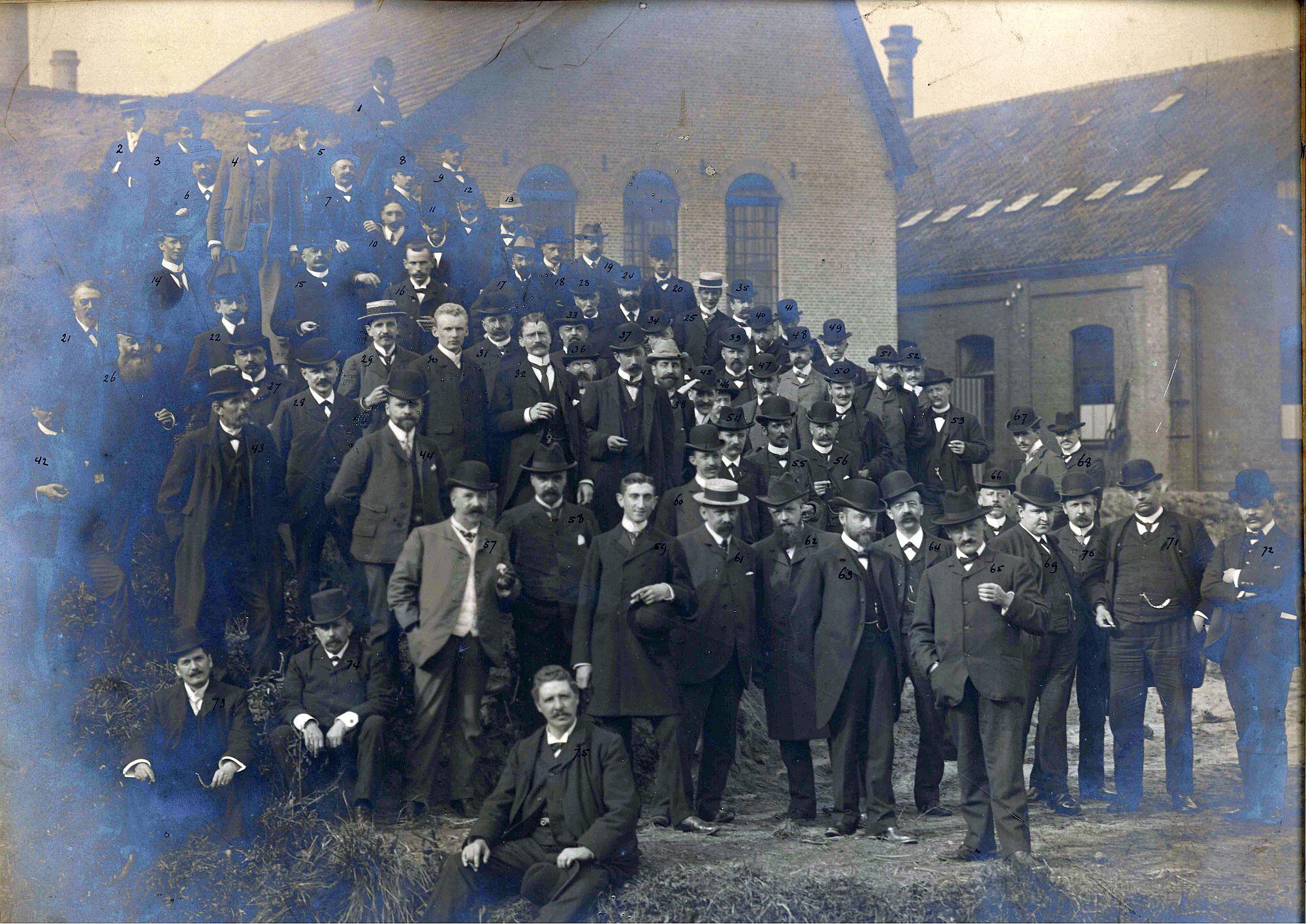 Bezoek Koninklijk Instituut van Ingenieurs aan Smit Slikkerveer 1903