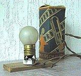 Prototype eerste Philips gloeilamp