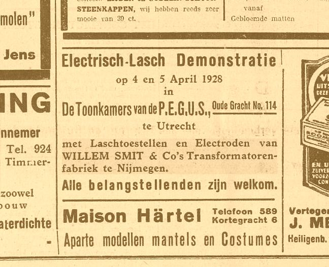 Electrisch-lasch demonstratie 31-03-1925