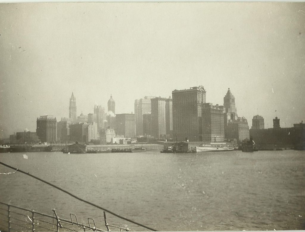 Aankomst New York (mei 1926)