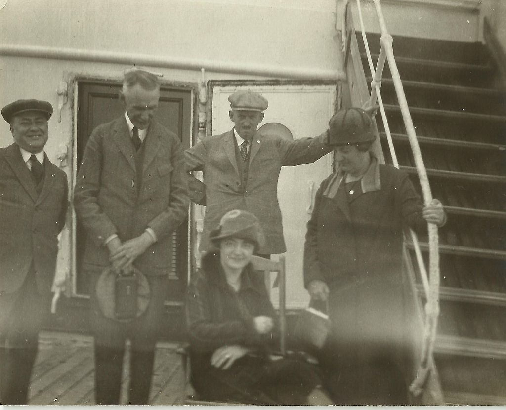 Rosskopf op de boot naar New York (april/mei 1926)