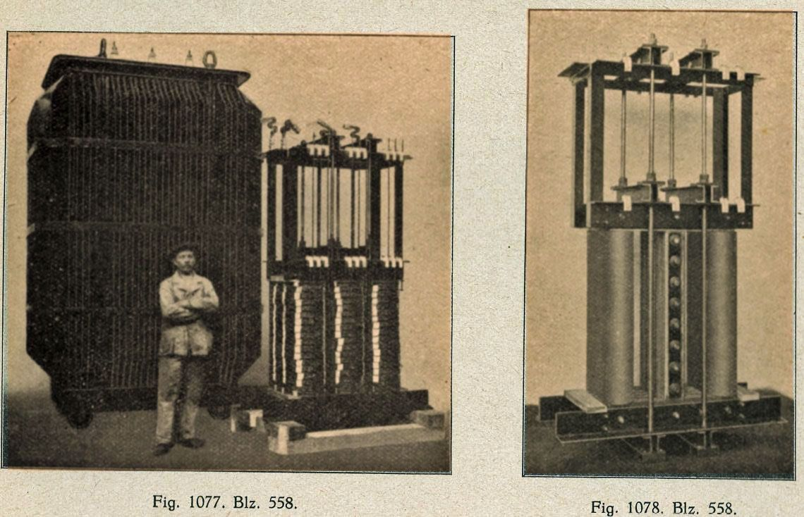 Hoogspanningstransformator 1000 kVA van Willem Smit & Co's Transformatorenfabriek 1915