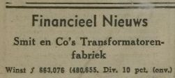 Jaarverslag Willem Smit & Co's Transformatorenfabriek 1940