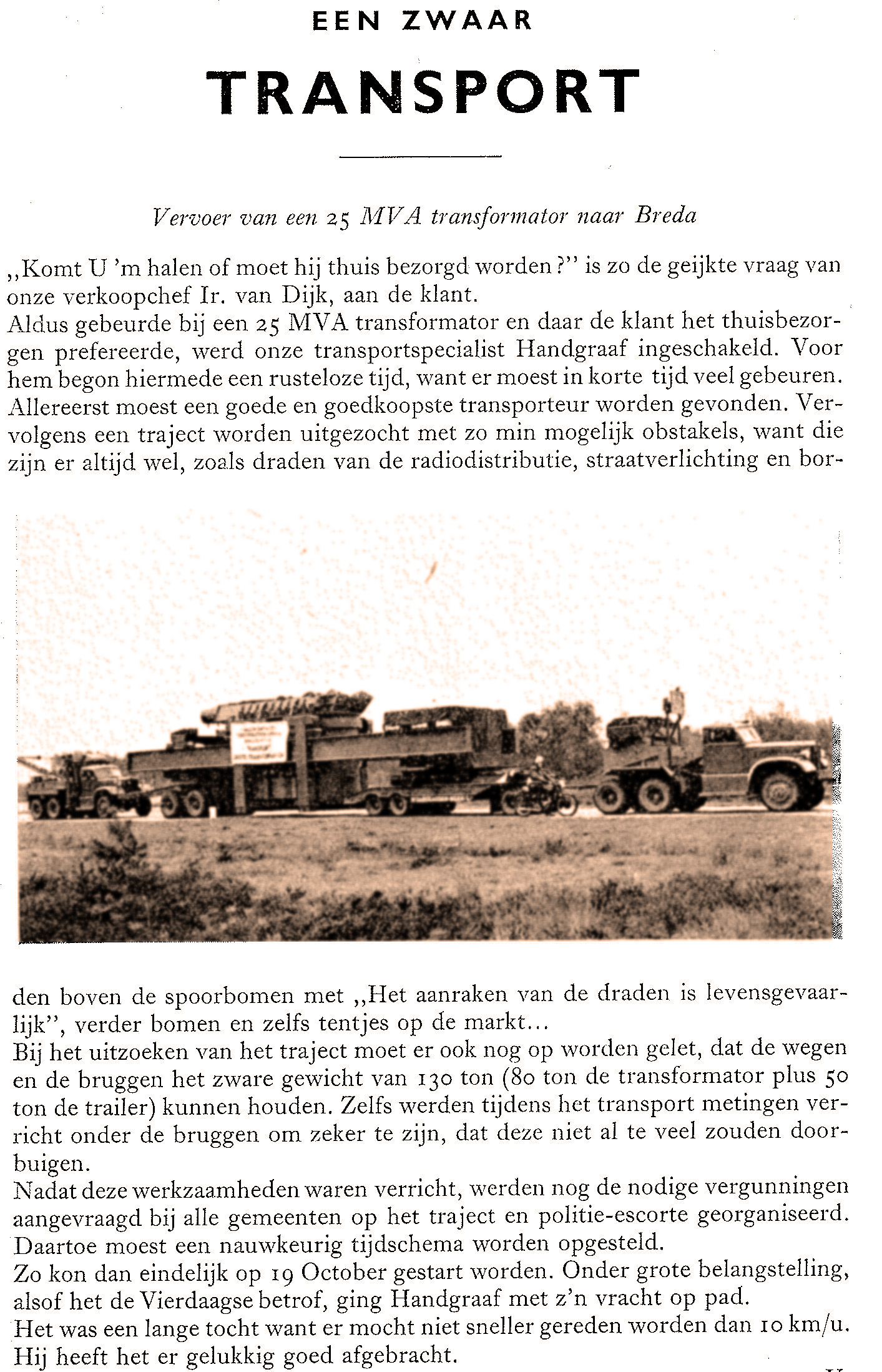 Zwaar transport 1954
